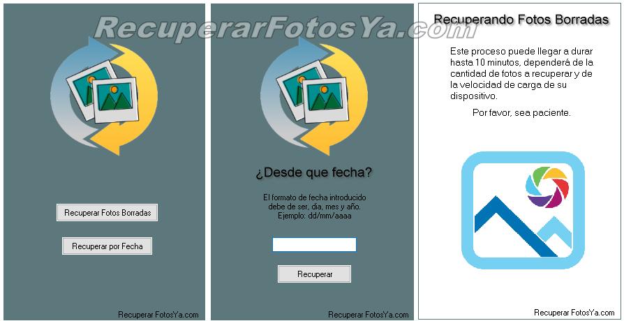 proceso para recuperar fotos borradas por fecha