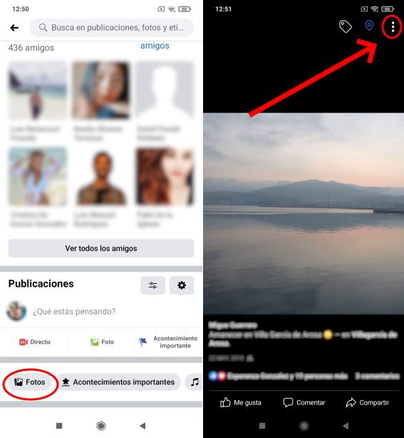 borrar fotos de facebook en android