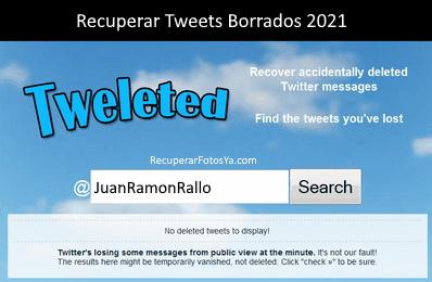 herramienta para recuperar tweets
